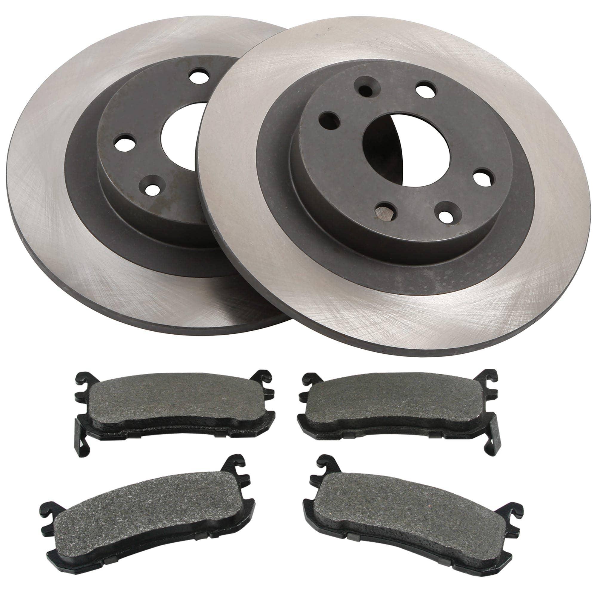Rear OE Brake Rotors and Premium Semi-Metallic Pads 2003 2004 2005 MAZDA 6