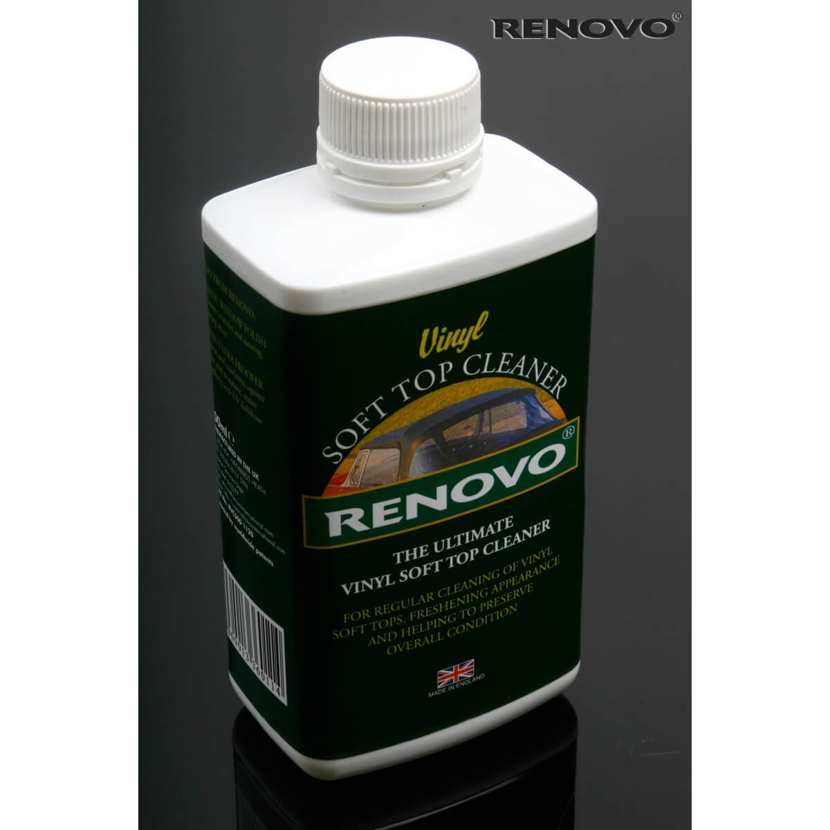 220 285 vinyl convertible top cleaner by renovo 500 ml mossmiata. Black Bedroom Furniture Sets. Home Design Ideas