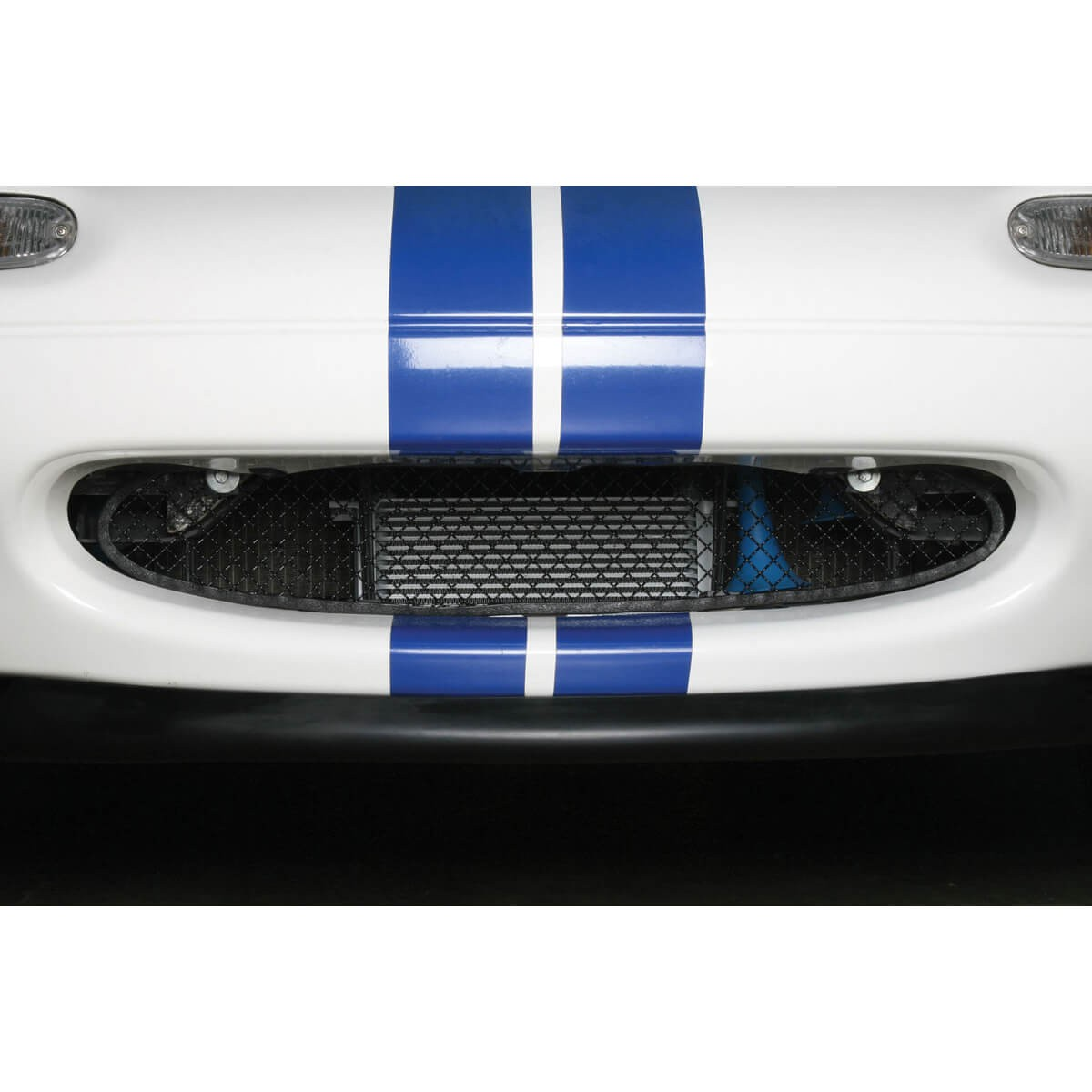 MX5 Miata MK2.5 Perfect Fit Woven Silver Poled Stainless Steel Car Front Radiator Mesh Grill Grille 2001-2005