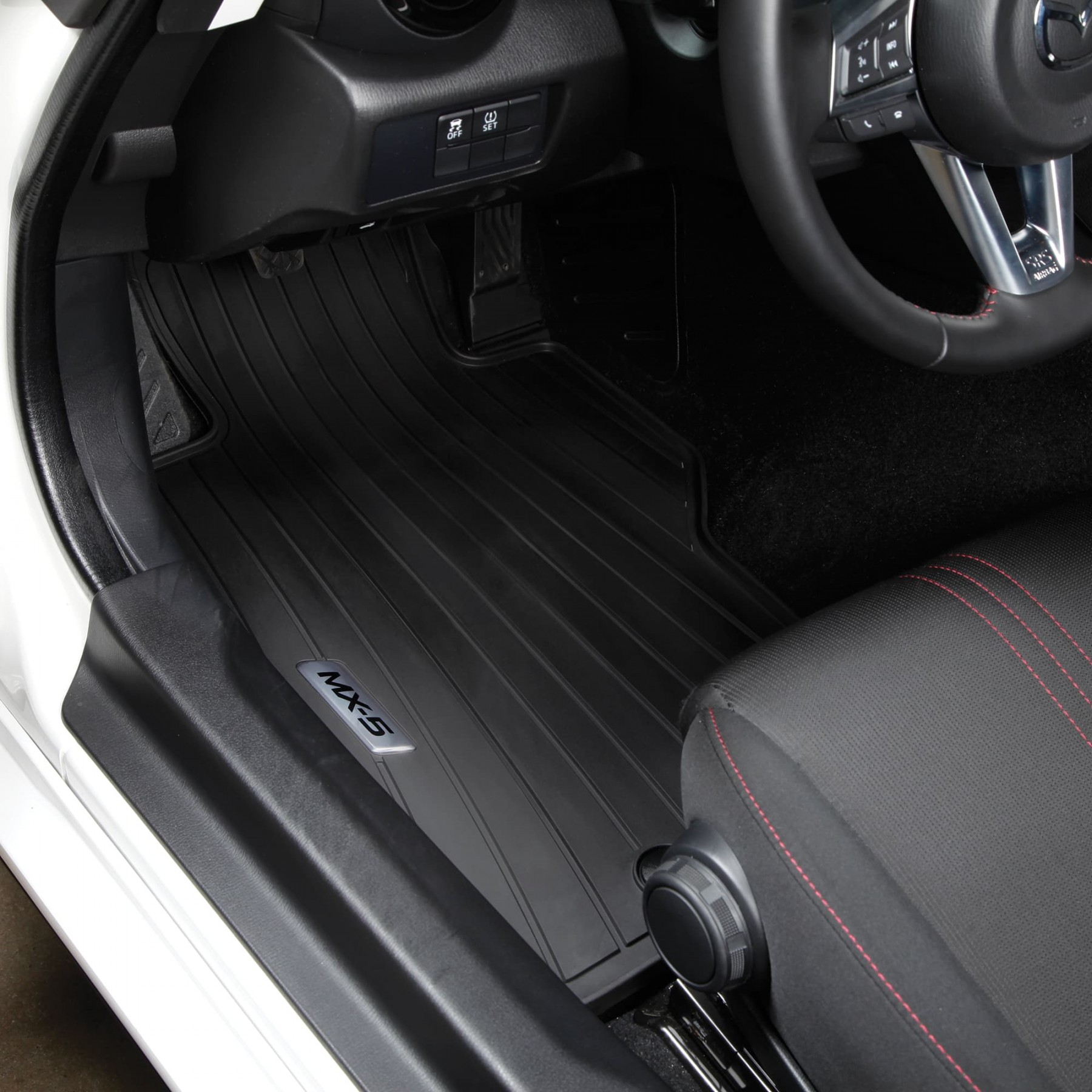 For 2006-2015 Mazda Miata MX-5 NC All Weather Black Rubber Floor Mats Front