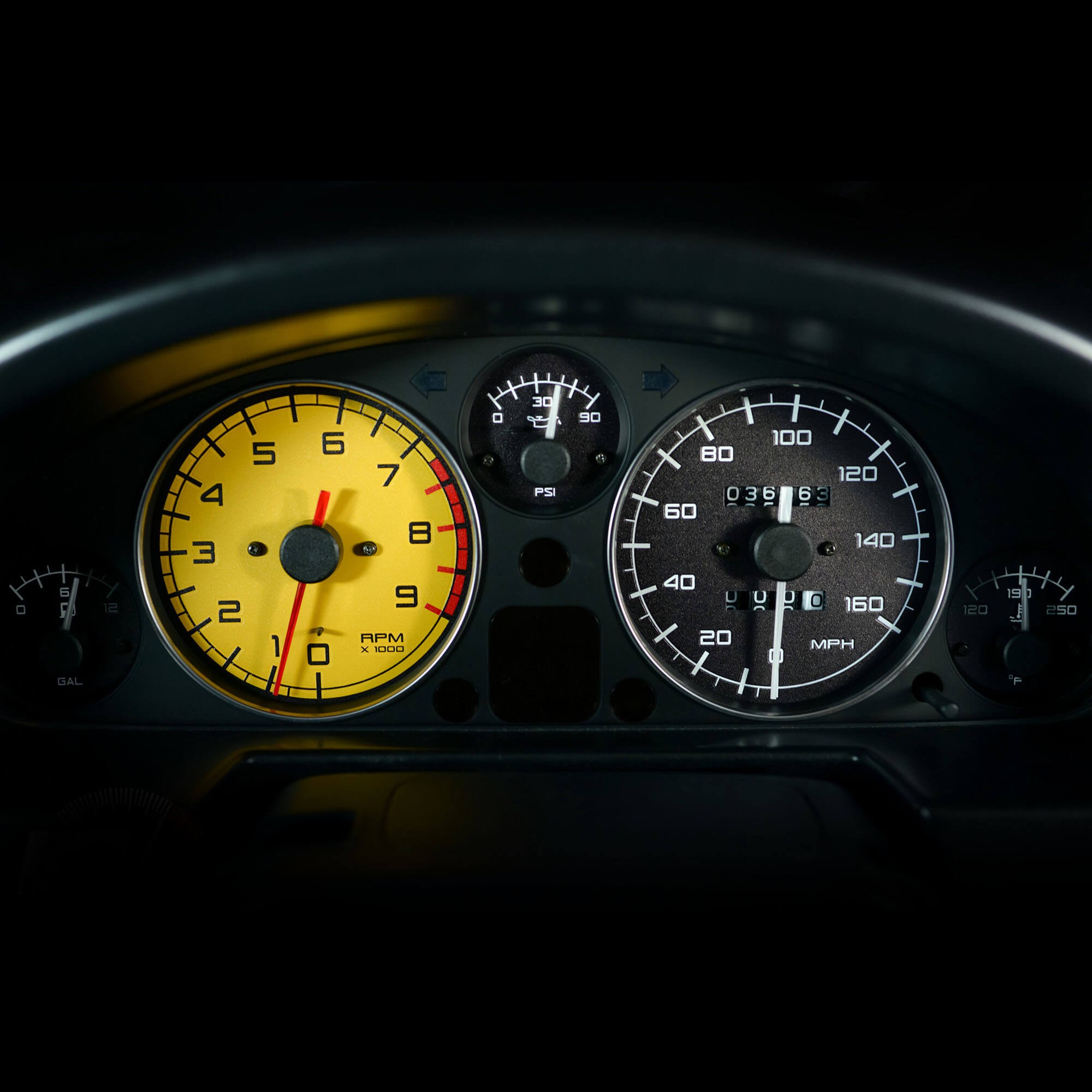 Mazda Miata For Sale >> Sunstorm Gauge Face by Revlimiter - Interior - 1999-2005 MX-5 Miata   MossMiata